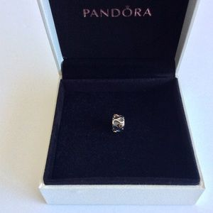 Retired Pandora silver charm 14ct